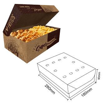 Box Frituras Kraft Gourmet Extra Grande C/50