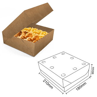 Box Frituras Kraft Grande C/50