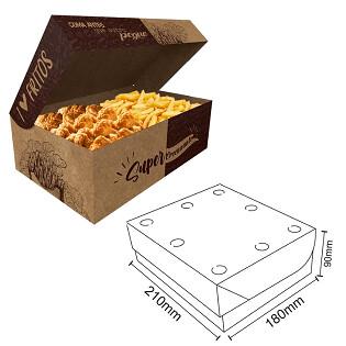 Box Frituras Kraft Gourmet Grande C/50