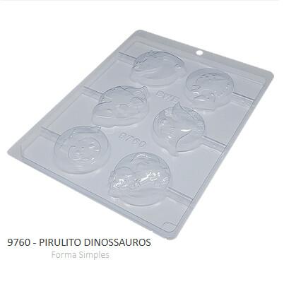 Forma Simples Pirulito Dinossauros 9760 - Bwb