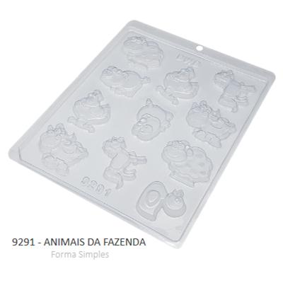 Forma Simples Animais Da Fazenda 9291 - Bwb
