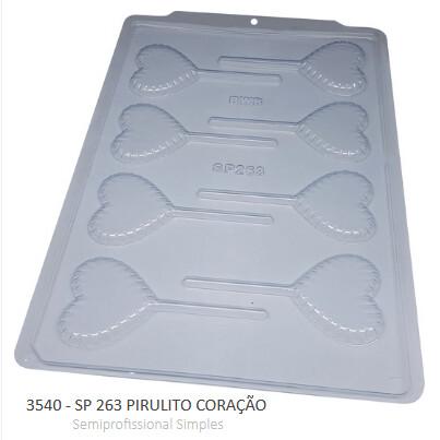 Forma Simples Sp 263 Pirulito Coracao 3540 - Bwb