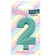 Vela Candy Verde N.2 107786 Festcolor