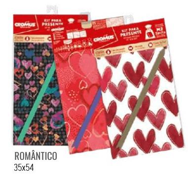 Kit Saco Presente 35X54cm Romantica 350010 Cromus