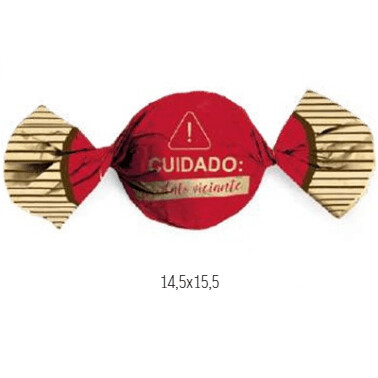 Embalagem Para Trufa Viciante Vermelho 100 Unid 12500185 Cromus