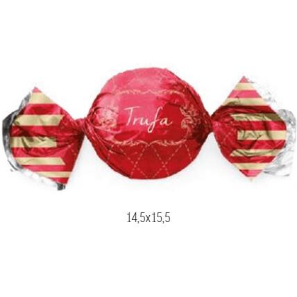 Embalagem Para Trufa Vichy Vermelho 100 Unid 12500056 Cromus