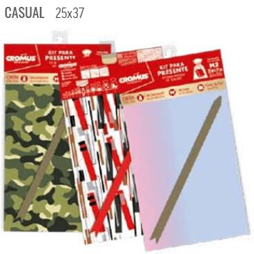 Kit Saco Presente 35X54cm Casual 350310 Cromus