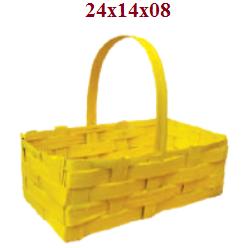 Cesta Padeira 22Cm Amarelo Bambu 1226-2 Sa Artesanatos