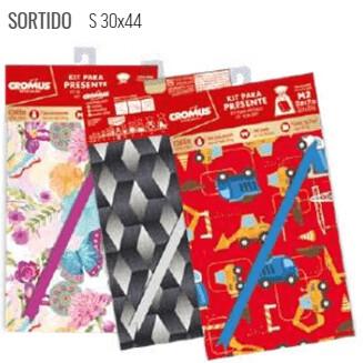 Kit Saco Presente 30X44cm Sortido 350009 Cromus