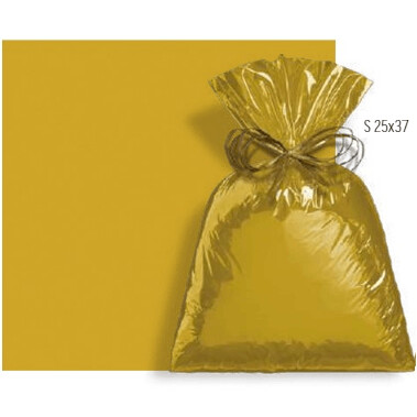 Saco De Presente 25X37cm Metalcor Dourado C/50 99060485 Cromus