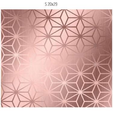 Saco De Presente 20X29cm Star Rose Gold C/50 99005767 Cromus