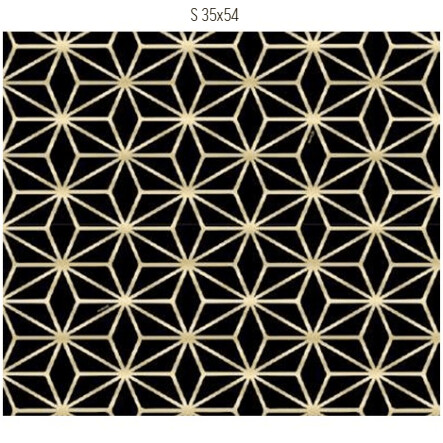 Saco De Presente 35X54cm Star Preto/Ouro C/50 99005108 Cromus