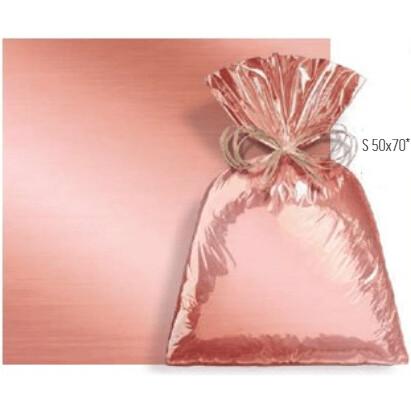 Saco De Presente 50X70cm Metalcor Rose Gold C/25 99004765 Cromus
