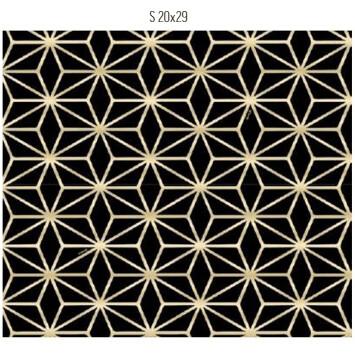 Saco De Presente 20X29cm Star Preto/Ouro C/50 99005105 Cromus