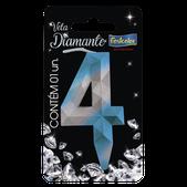 Vela Diamante Azul/Prateada N.4 108744 Festcolor