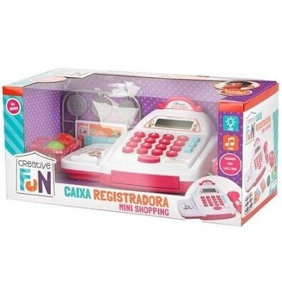 Caixa Registradora Mini Shopping Rosa Br1182 Multikids