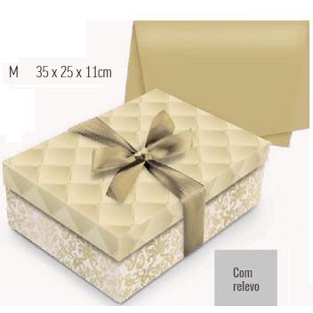 Kit Presente Caixa Luxuria Ouro M 13001849 Cromus