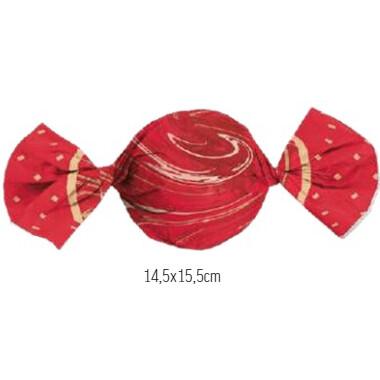Embalagem Para Trufa Marmore Vermelho 100 Unid 12500178 Cromus