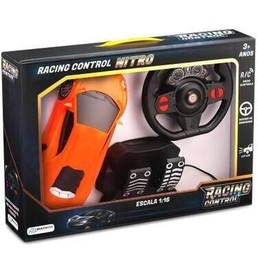 Carro De Controle Racing Raptor Laranja Br1337 Multikids