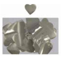 Confete Metal Coracao Prata 1Cm 86835 Neotrentina