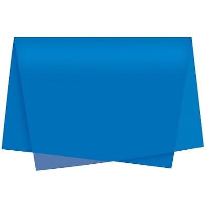 Papel De Seda Azul Escuro C/100 Vmp