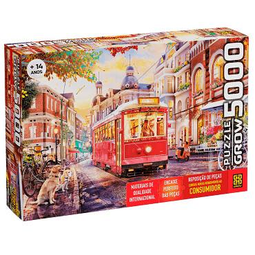 Puzzle 5000 Pecas Passeio De Bonde 04043 Grow