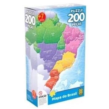 Puzzle 200 Pecas Mapa Do Brasil 03936 Grow