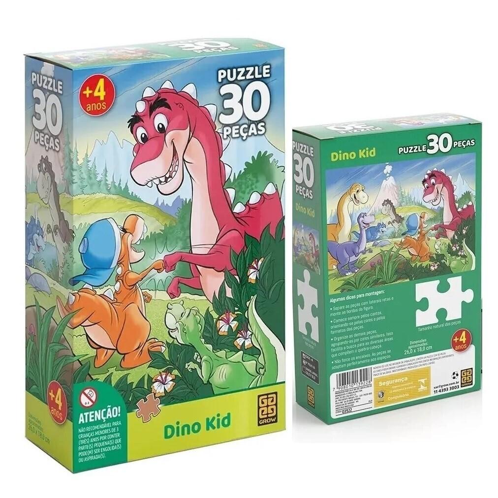 Puzzle 30 Pecas Dino Kid 03922 Grow