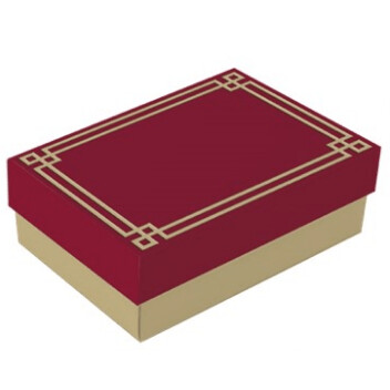 Caixa De Presente Petit Domo Marsala/Ouro M 13004171 Cromus