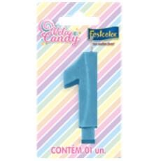 Vela Candy Azul N.1 107752 Festcolor