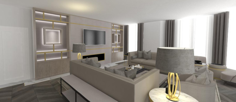 RESIDENTIAL 3D VISUALIZATION - ONE ROOM