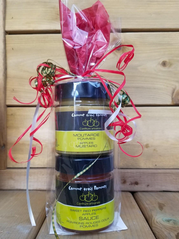 Ensemble Cadeau Moutarde et Sauce poivron rouge