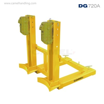 تركيبة شوكية مزدوجة الفكين للبرميلDouble Gator Grip Forklift Drum Grab DG720A