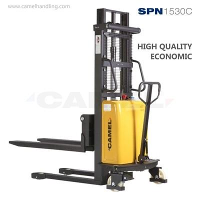 ونش شوكة نصف بطارية 1.5طن/3.0مترSemi-Elec Pallet Stacker 1.5 T/3.0m SPN1530 C