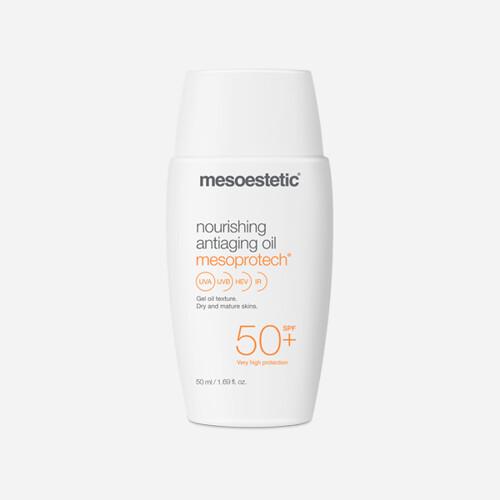 MESOESTETIC Mesoprotech Nourishing Antiaging Oil 50+ przeciwsłoneczny, przeciwstarzeniowy olejek  w żelu do skóry suchej i dojrzałej SPF50+, 50 ml