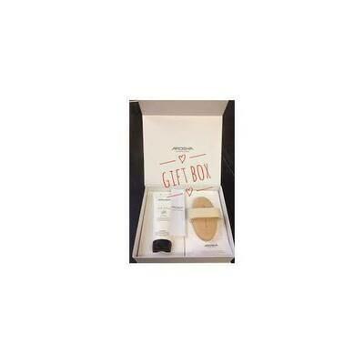 AROSHA GIFT BOX (szczotka + krem cellulit 200 ml)  ZESTAW Arosha gift box (szczotka do masażu + krem Arosha body rescue cellulite 200 ml)