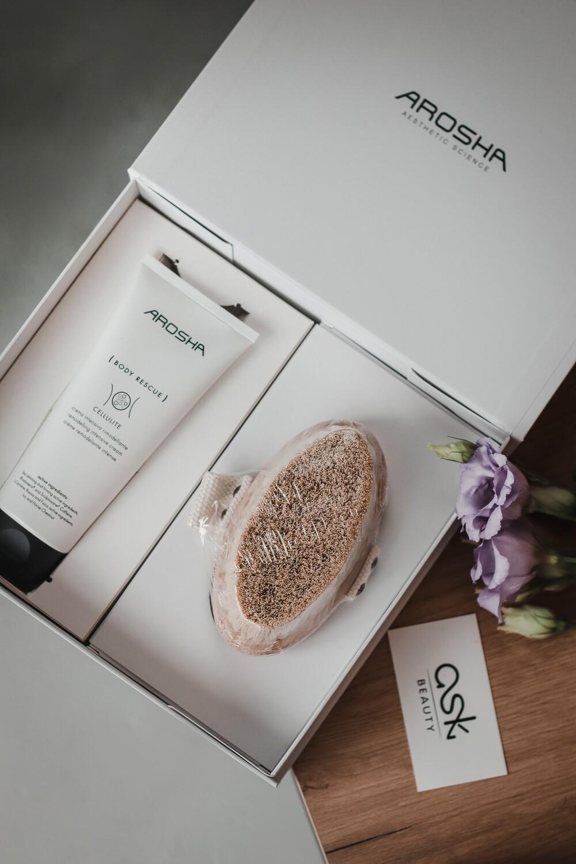 AROSHA GIFT BOX (szczotka + krem cellulit 200 ml)