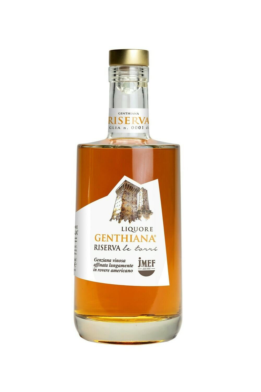 Genthiana RISERVA   Liquore d'infuso di radice di Genziana e vino Pecorino - Affinata oltre 12 mesi in rovere americano