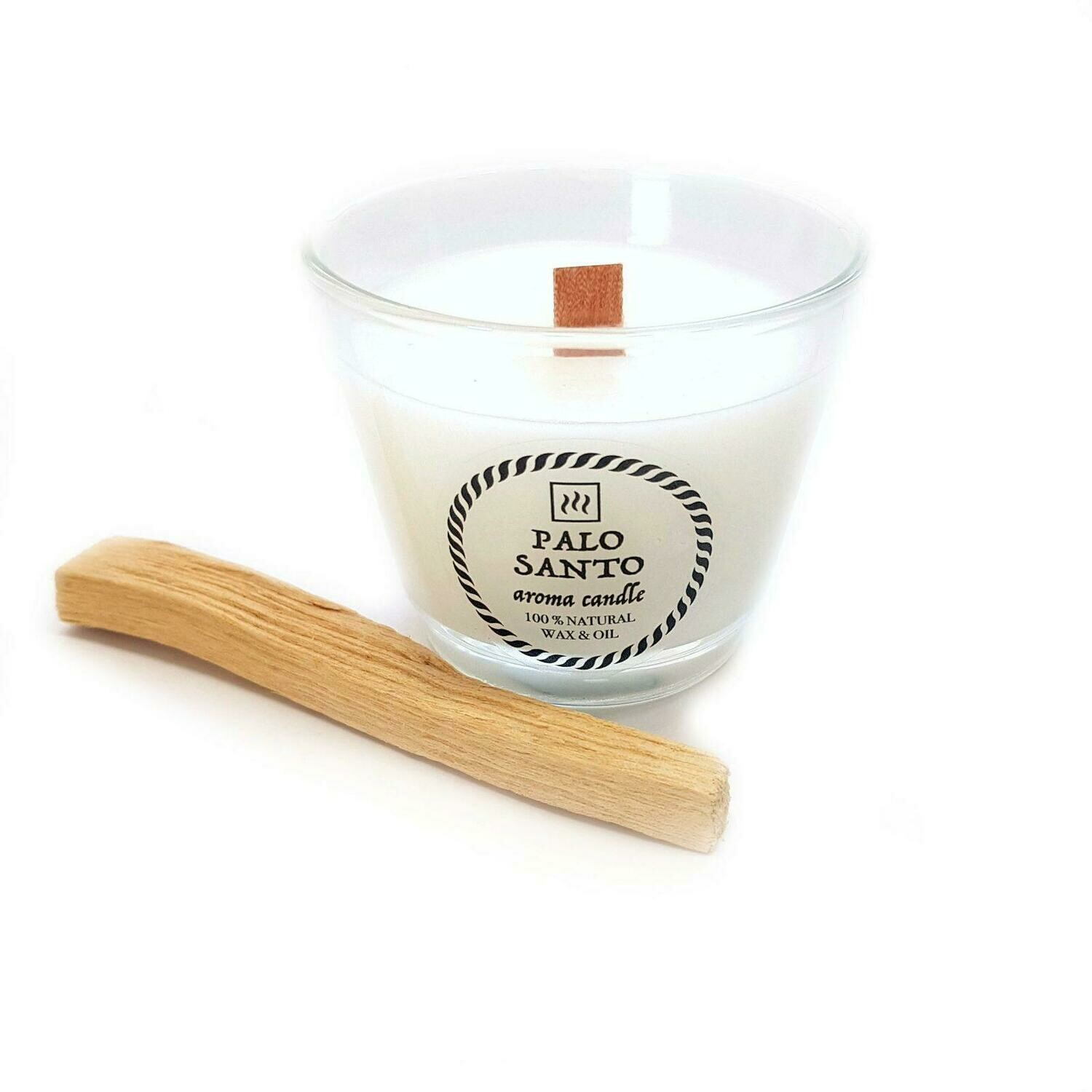 Ароматическая свеча с маслом Пало Санто (100 мл.)