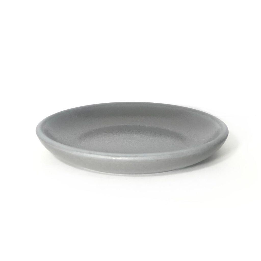 Тарелка-подставка керамика, серая