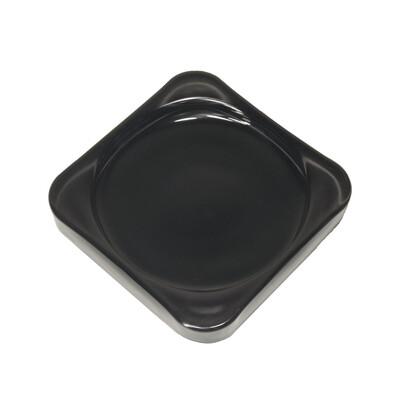 Тарелка-подставка стекло, черная