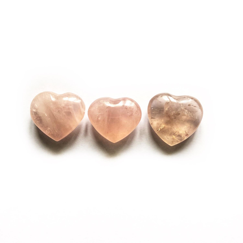 Сердце розовый кварц, 1 шт (20 гр)