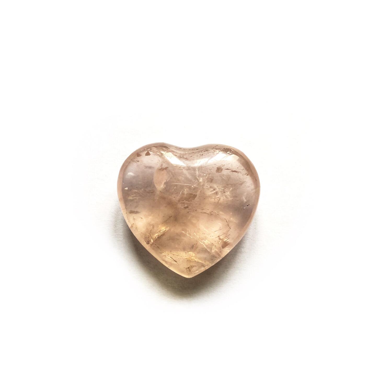 Сердце розовый кварц, 1 шт. (40 гр.)