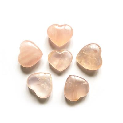 Сердце розовый кварц, 1 шт (40 гр)