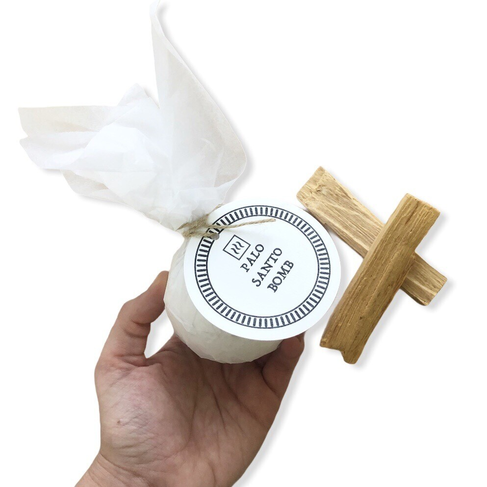 Большая бомба для ванны с эфирным маслом Пало Санто, 220 гр