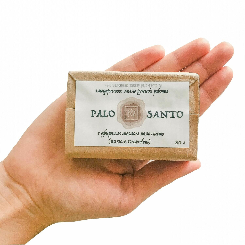 Твердое глицериновое мыло с эфирным маслом Пало Санто, 80 гр