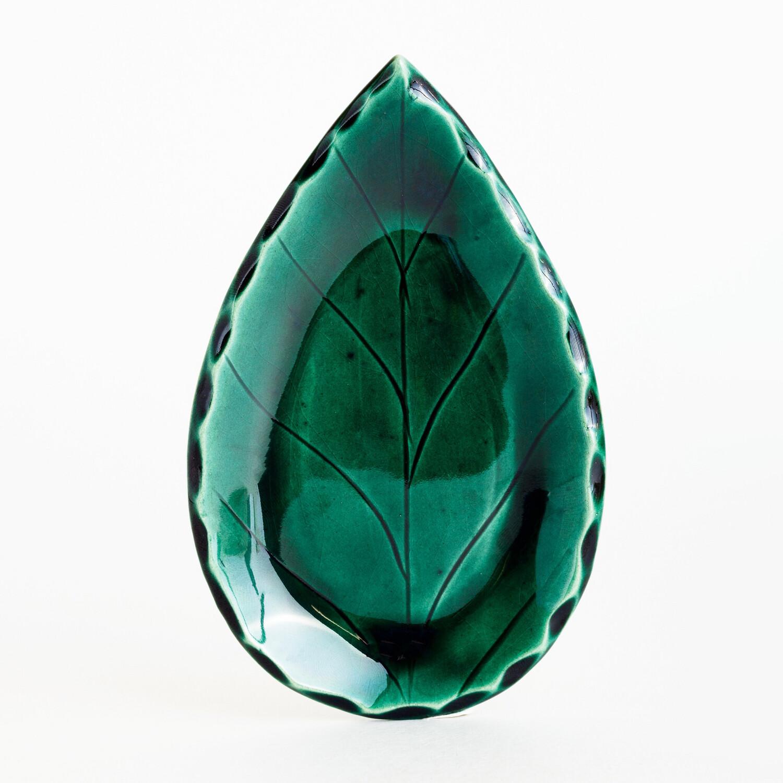 Тарелка-подставка листик, керамика