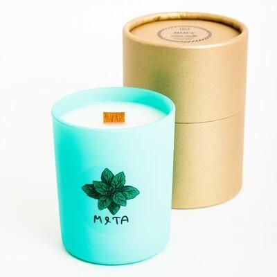 Свеча с ароматом Мяты, 200 мл