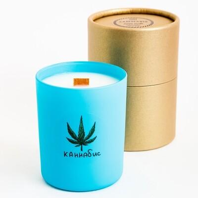 Свеча с ароматом Каннабис, 200 мл
