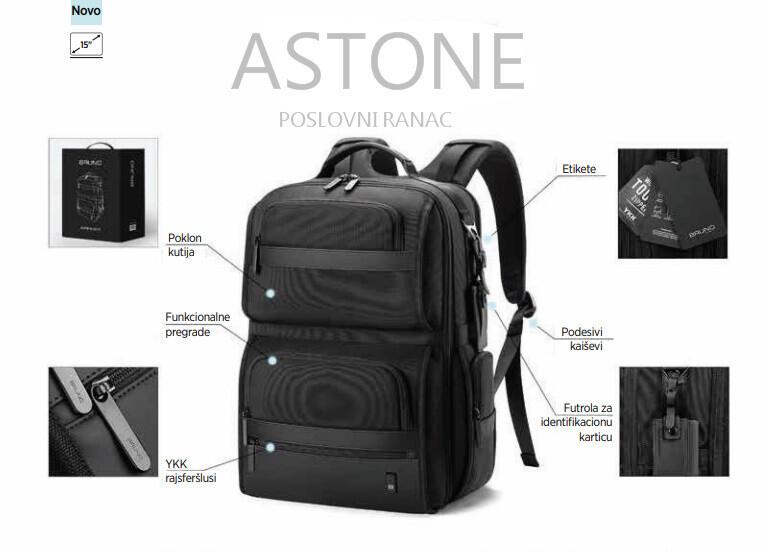 ASTONE Elegantan ranac za laptop,kameru,poslovna putovanja